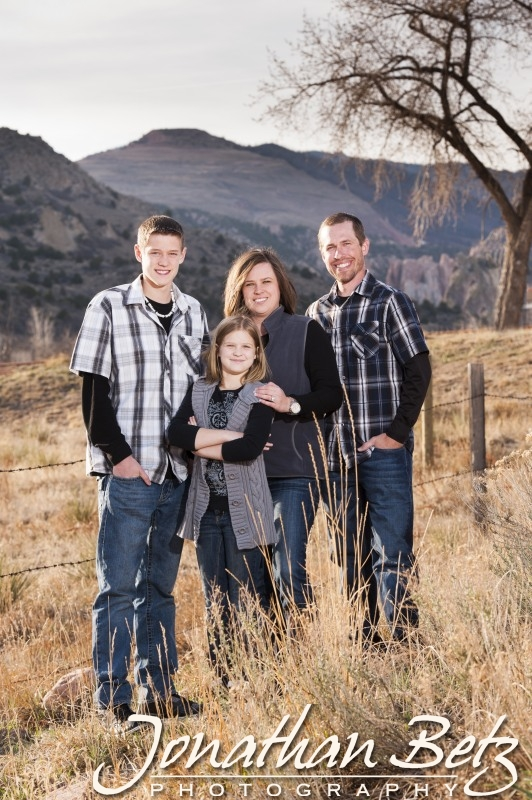Garden of the Gods family portraits, Colorado Springs Photographer, Jonathan Betz Photography