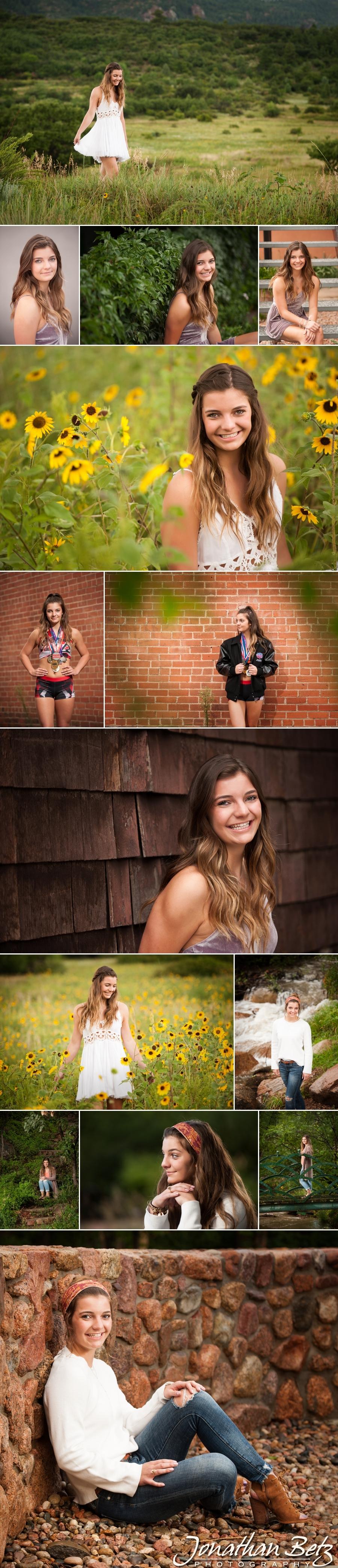 Monumnet Palmer Ridge High School Senior Portraits Jonathan Betz Photography Colorado Springs Photographer