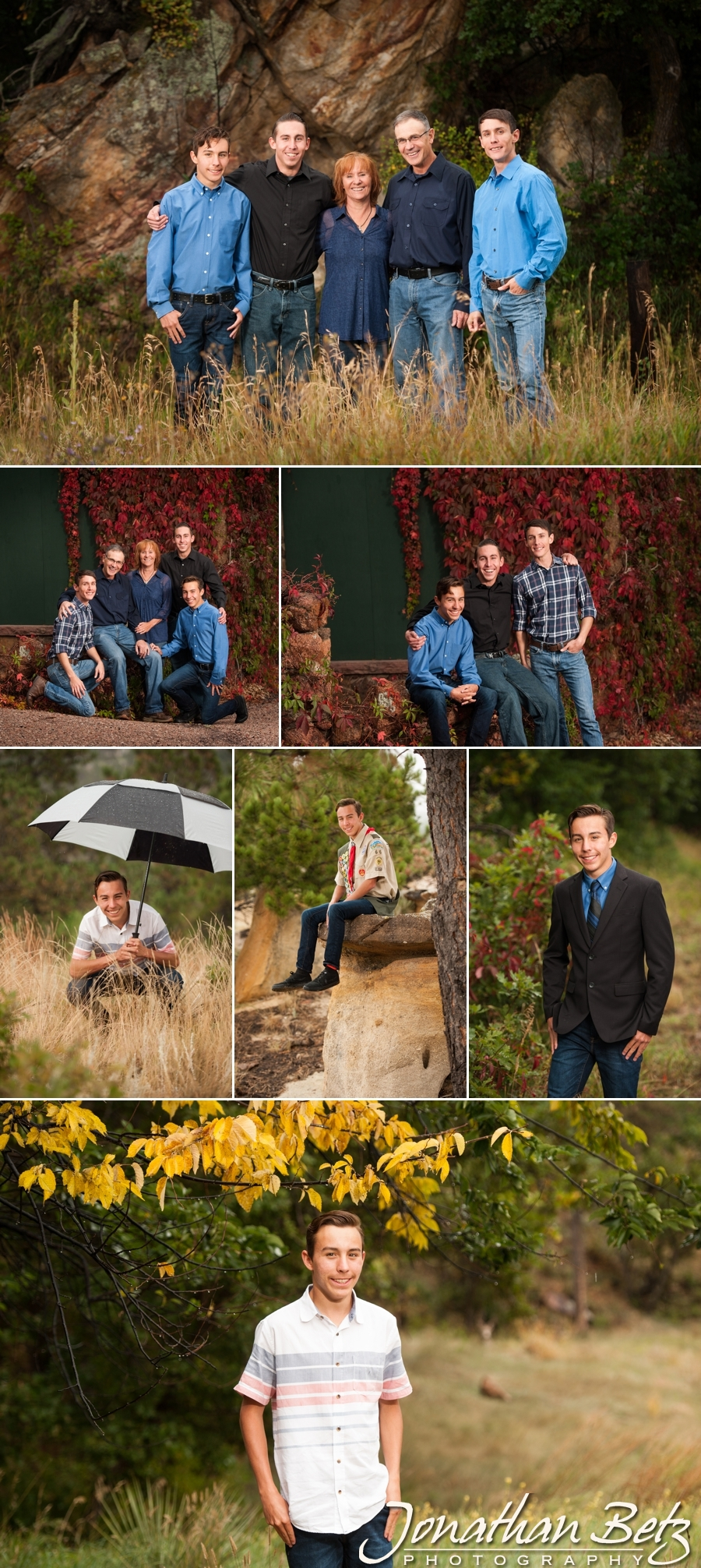Family portraits high school senior photographer colorado springs Jonathan Betz Photography 1
